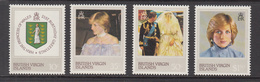 1982 Virgin Islands Diana  Complete Set Of 4  MNH - Iles Vièrges Britanniques
