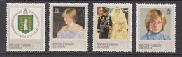 1982 Virgin Islands Diana  Complete Set Of 4  MNH - British Virgin Islands