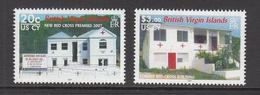 2007 Virgin Islands Red Cross Building AIDS SIDA Health Complete Set Of 2  MNH - British Virgin Islands