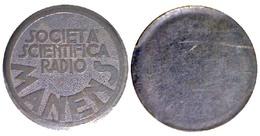 05227 GETTONE TOKEN JETON PLAQUETTE DUCATI SOCIETA' SCIENTIFICA RADIO MANENS 1926 - Italy