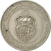 Monnaie, Tunisie, Dinar, 1997, Paris, TTB, Copper-nickel, KM:347 - Tunisie