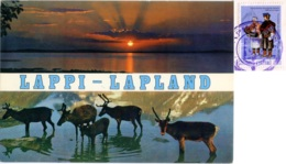 SUOMI  FINLAND  FINLANDIA  Lappi  Lapland  Reindeers  Renne Nice Stamp - Finlandia
