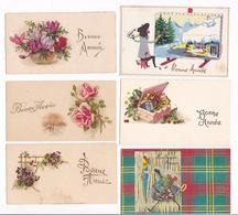 Lot De 17 Ravissantes Petites Cartes Illustrées Bonne Année, Années 1930-1950 - Nouvel An
