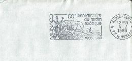 """1983 - Monaco - Oblitération Sécap '50eme Anniversaire Du Jardin Exotique"""" - Machine Stamps (ATM)"""