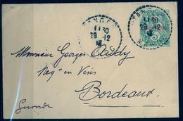 1918 , MARRUECOS FRANCÉS , ENTERO POSTAL CIRCULADO , TÁNGER - BORDEAUX - Marokko (1891-1956)