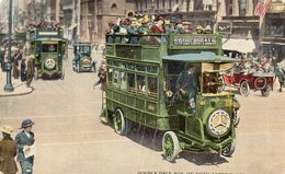 ETATS UNIS NEW YORK CITY DOUBLE DECK BUS ON FIFTH AVENUE BELLE ANIMATION - Transports