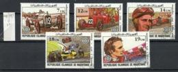 Mauritanie - Mauretanien - Mauritania 1981 Y&T N°491 à 495 - Michel N°(?) (o) - Automobile Club De France - Mauritania (1960-...)