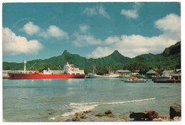 COOK ISLANDS - AVATIU HARBOUR-RARATONGA THE MAIN SEA PORT /SHIPS / THEMATIC STAMP-FIRST MOON LANDING - Cook Islands