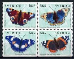 Sweden 1999 Mi.No. 2125 - 2128  Schweden Fauna INSECTS Butterflies 4V MNH **  5.00 € - Mariposas