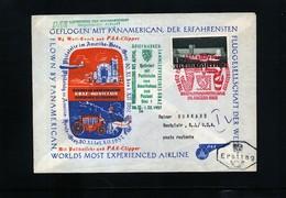 Austria 1957 Panamerican Flight Graz -Montclair - Premiers Vols AUA