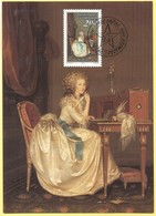 LIECHTENSTEIN - 1988 - Gemälde: Der Brief - Maximum Karte - Nr. 86 - FDC - Maximum Cards