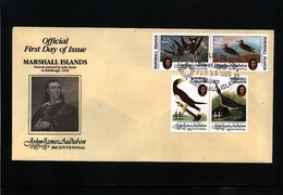 Marshall Islands 1985 John James Audubon - Birds FDC - Albatrosse & Sturmvögel