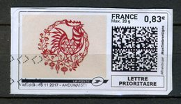 FRANCE 2017 / VIGNETTE PRIORITAIRE 0.83€  OBL. - 2010-... Abgebildete Automatenmarke