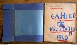 Ancien Cahier D'écolier 1949 - Stationeries (flat Articles)