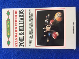 VHS  Byrne, Robert, Standard Video Of Pool & Billiards, A Step By Step Guide From Basic To Advanced Techniques - Sports