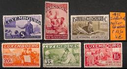 D- [820960] **/Mnh-Luxembourg 1935 -  Métiers - Ungebraucht