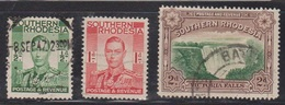 SOUTHERN RHODESIA Scott # 37, 42-3 Used - KGVI & Victoria Falls - Southern Rhodesia (...-1964)