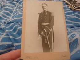 Photo Originale Soldat Militaire Officier Sabre Toulon  Photographe Couadou - Guerre, Militaire