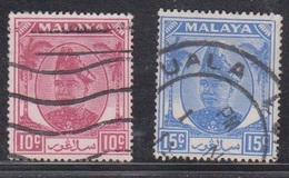 SELANGOR Scott # 86-7 Used - - Selangor