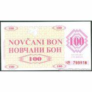 TWN - BOSNIA-HERZEGOVINA 6f1 - 100 Dinara 1992 Counterfeit - Handstamped VISOKO UNC - Bosnia Erzegovina