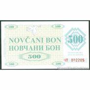 TWN - BOSNIA-HERZEGOVINA 7f1 - 500 Dinara 1992 Counterfeit - Handstamped VISOKO UNC - Bosnia Erzegovina
