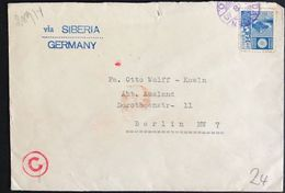 ◆◆Japan 1940 Offices In MANCHUKUO *DAIREN * TO  GERMANY // ***VIA SIBERIA -- German Military Inspect  --***+++++++++++++ - 1926-89 Emperor Hirohito (Showa Era)