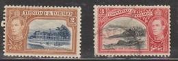 TRINIDAD & TOBAGO Scott # 51-2 Used - KGVI - Trinidad & Tobago (...-1961)