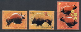 Singapore 2009 New Year Of The Ox MUH - Singapore (1959-...)