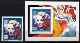 Guinea  1992 Mi.1395. MNH. Dietrich. Films - Attori