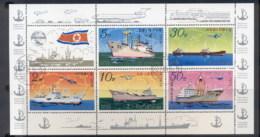 South East Asia 1978 Ships Sheetlet CTO - Korea, North