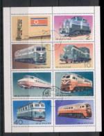 South East Asia 1979 Locomotives, Trains Sheetlet CTO - Korea, North