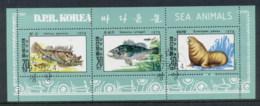 South East Asia 1979 Marine Life MS CTO - Korea, North