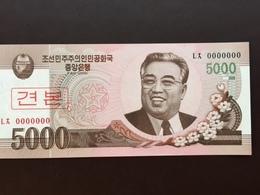 KOREA NORTH P66 5000 WON 2008.2010 UNC - Corée Du Nord