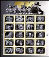 VERINIGTE STAATEN ETATS UNIS USA 2009 EARLY TV MEMORIES PANE OF 20v SC 4414SP YV BF4186-205 MI B4523-42 SG MS4979-98 - Blocks & Kleinbögen