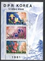 South East Asia 1981 Flowers, Iris MS CTO - Korea, North