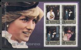 South East Asia 1982 Royal Wedding Charles & Diana MS CTO - Korea, North