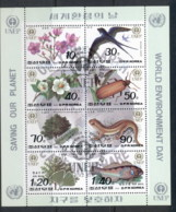 South East Asia 1992 World Environment Da, Wildlife, Birdy Sheetlet + MS CTO - Korea, North