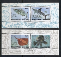 South East Asia 1993 Marine Life Fish 2xMS CTO - Korea, North