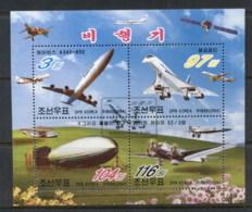 South East Asia 2004 History Of Aviation MS CTO - Korea, North