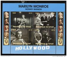 MARILYN MONROE'S MOVIE,MONKEY BUSINESS On SOUVENIR SHEET 4 STAMPS (2015),MNH,MINT,#DA175 - Famous Ladies