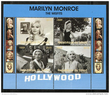MARILYN MONROE'S MOVIE,THE MISFITS On SOUVENIR SHEET 4 STAMPS (2015),MNH,MINT,#DA88 - Famous Ladies