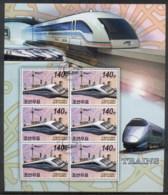 South East Asia 2006 Trains Sheetlet CTO - Korea, North
