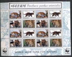 South East Asia 2010 WWF Amur Leopard Sheetlet MUH - Korea, North