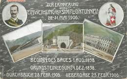 "CPA SUISSE ""Tunnel Du Simplon - VS Valais"