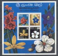 Sri Lanka 1976 Flowers MS MUH - Sri Lanka (Ceylon) (1948-...)