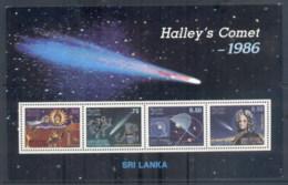 Sri Lanka 1986 Halley's Comet MS MUH - Sri Lanka (Ceylon) (1948-...)
