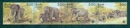 Sri Lanka 1986 WWF Elephants Str 4 MUH Lot64105 - Sri Lanka (Ceylon) (1948-...)
