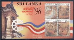Sri Lanka 1998 Vesak Festival MS MUH - Sri Lanka (Ceylon) (1948-...)