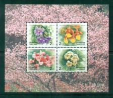Thailand 1999 New Year Flowers MS MUH Lot82121 - Thailand