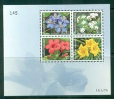 Thailand 2002 New Year Flowers MS MUH Lot82123 - Thailand